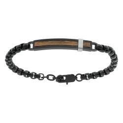 Bracelet acier ET PVD NOIR...